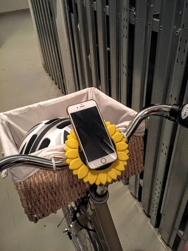iPhone Bike Mount - Sunflower Style 3D Print 85745