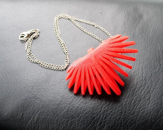 Heart Slice Necklace 3D Print 85821