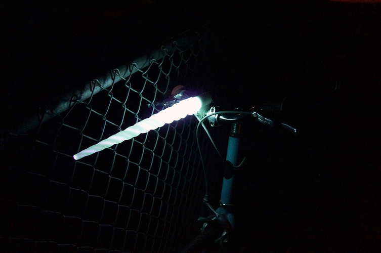 Glowing Unicorn Bike Light 3D Print 85896