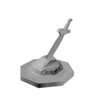 Small Sword in Stone Token 3D Printing 85930
