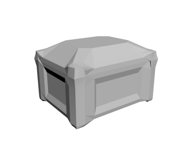 Trunk with removable lid 3D Print 85943