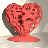 Small Heart In Heart 3D Printing 86022