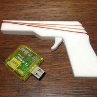 Small Mini Rubber Band Gun 3D Printing 86047
