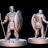 Small Zulu Warrior (15mm scale) 3D Printing 86177