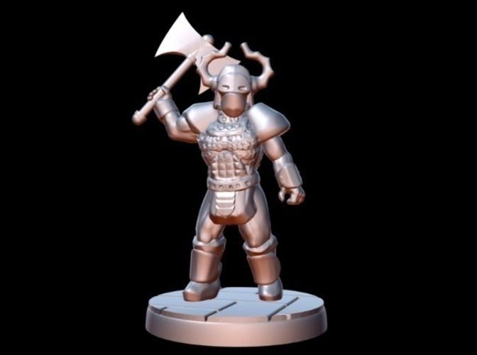 3D Printed Barbarian Warlord (15mm scale) by Dutchmogul | Pinshape