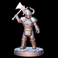 Small Barbarian Warlord (15mm scale) 3D Printing 86180
