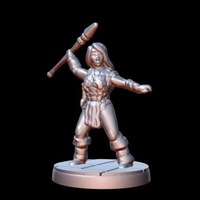 Small Barbarian Steppe Hunter (15mm scale) 3D Printing 86181