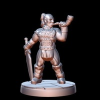 Small Barbarian Horn Bearer (15mm scale) 3D Printing 86183