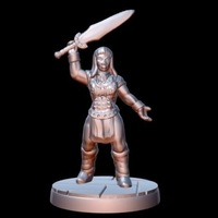 Small Barbarian Champion (15mm scale) 3D Printing 86184