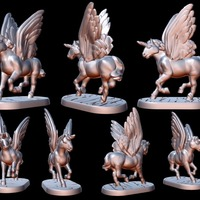 Small Pegacorn (15mm scale) 3D Printing 86194