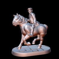 Small Peaky Blinder w/horse/revolver (15mm scale) 3D Printing 86195