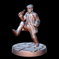 Small Peaky Blinder w/revolver/stomping (15mm scale) 3D Printing 86212