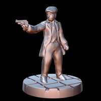 Small Peaky Blinder w/revolver (15mm scale) 3D Printing 86221