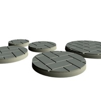 Small Flagstone Bases (15mm scale) 3D Printing 86232