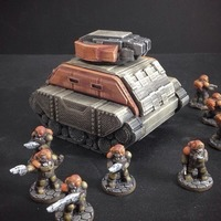 Small Gilgamesh Pattern Battle Tank (15mm scale) 3D Printing 86254