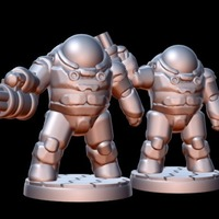 Small Freespace Hardsuit Elite (18mm scale) 3D Printing 86265