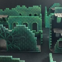 "Small ""Bizarrchitecture"" Arcane Ruins (15mm scale base set) 3D Printing 86270"