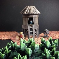 Small Stilt Hut (15mm scale) 3D Printing 86285