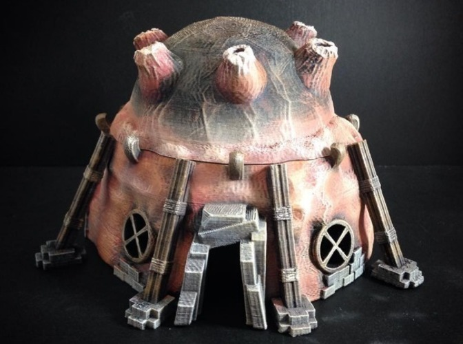Stonepunk Alien Dwelling (15mm scale) 3D Print 86303
