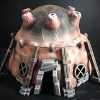 Small Stonepunk Alien Dwelling (15mm scale) 3D Printing 86303