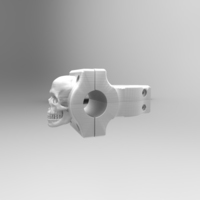Small Bike Skull Stem 3D Printing 86406
