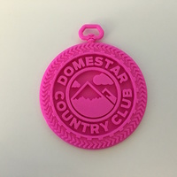 Small DomeStar Country Club Medallion 3D Printing 86571