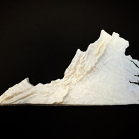Small Virginia Topographic Map 3D Printing 86581