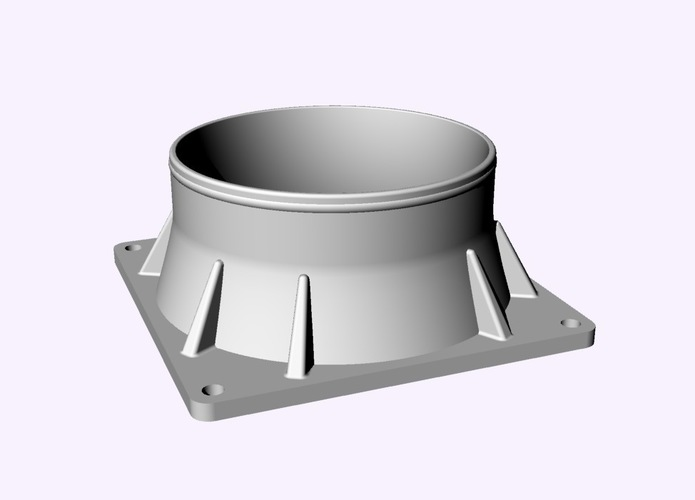 Exhaust Fan Flange 92mm to 75mm 3D Print 86626
