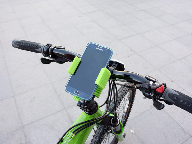 Smartphone Flexible Mount for Bike 3D Print 87396