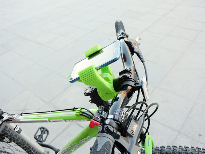 Smartphone Flexible Mount for Bike 3D Print 87397