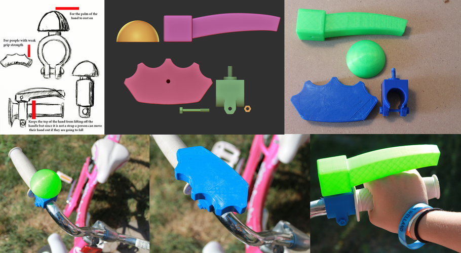 Bike Accessories For People With Hand Disabilites 3D Print 87405