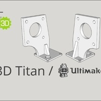 Small E3D Titan / Ultimaker 2 mount 3D Printing 88066