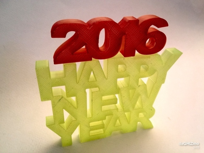 HAPPY NEW YEAR SIGN 3D Print 88104