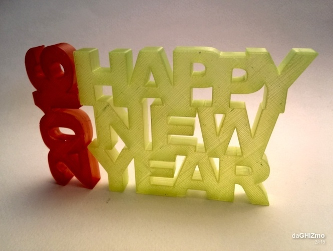 HAPPY NEW YEAR SIGN 3D Print 88106