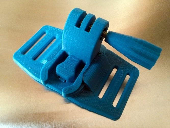 Backpack Shoulder attachment for GoPro camera 3D Print 88129