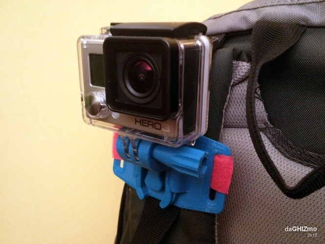 Backpack Shoulder attachment for GoPro camera 3D Print 88131