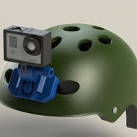 Small GoPro Helmet Front mount 3D Printing 88135