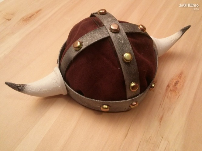 Viking Horned Helmet 3D Print 88221