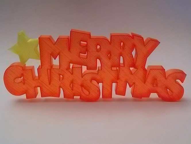 Merry Christmas Sign 3D Print 88313