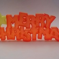 Small Merry Christmas Sign 3D Printing 88313