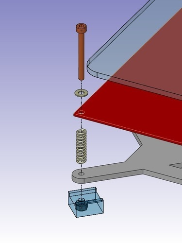 Leveling Parallel Nuts : D printed leveling nuts prusa i al y plate by