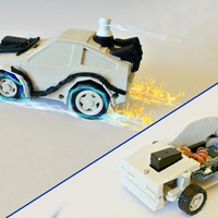 Small DeLorean BackToFuture RC Car w/ Arduino - 3DRacers 3D Printing 88355