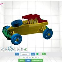 Small RC Car - Buggy 3D Printing 88367