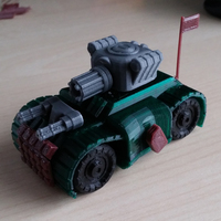 Small Battle Tank - Toy car 3D Printing 88370