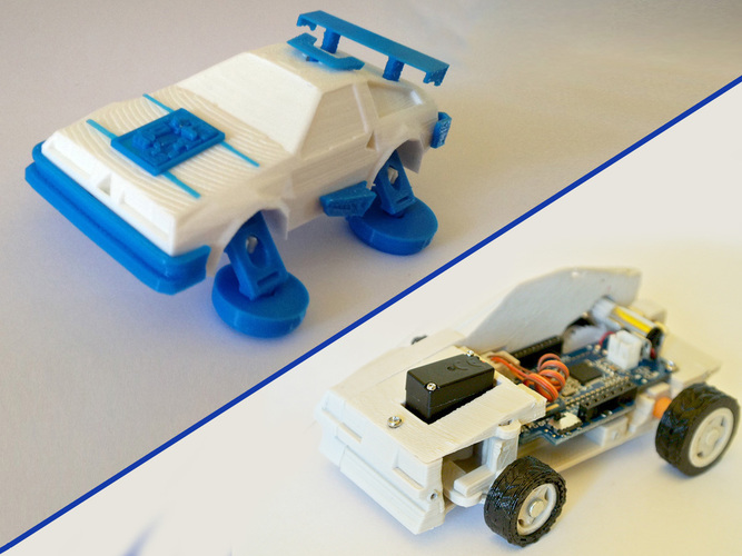 3D Printed Toy car - DeLorean 3DRacers - Back To The Future