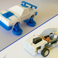 Small Toy car - DeLorean 3DRacers - Back To The Future 3D Printing 88380