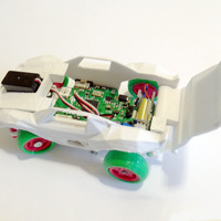 Small RC Car Arduino-compatible and smartphone enabled: 3DRacers 3D Printing 88385