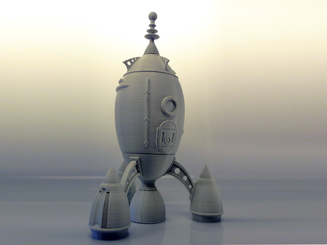 The Steam Rocket 3D Print 88465
