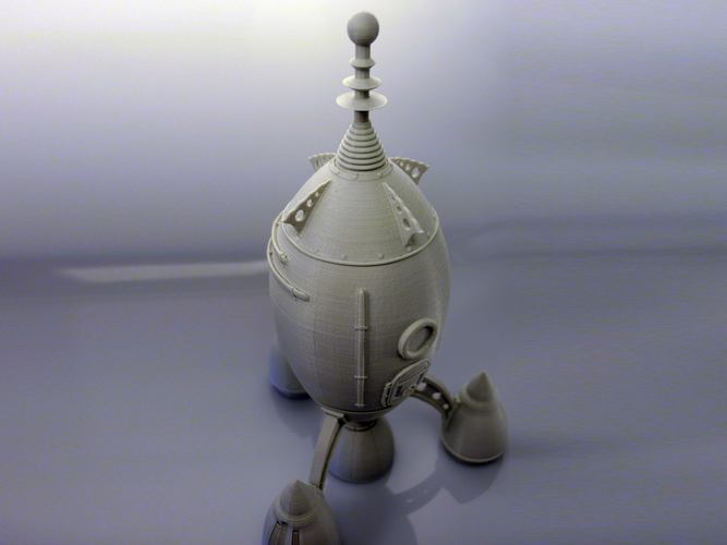 The Steam Rocket 3D Print 88466