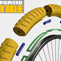 Small 3D PRINTED TIRE (DIY PROJECT) 3D Printing 88480